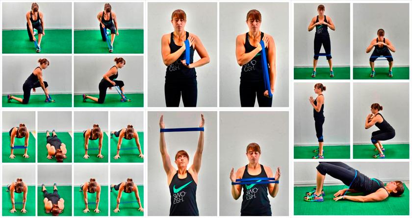 Упражнения с эластичной лентой для женщин в домашних условиях пошагово в